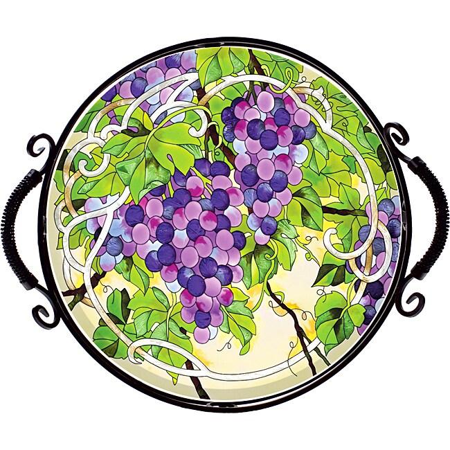 Joan Baker Hand Painted Grape Arbor Tray