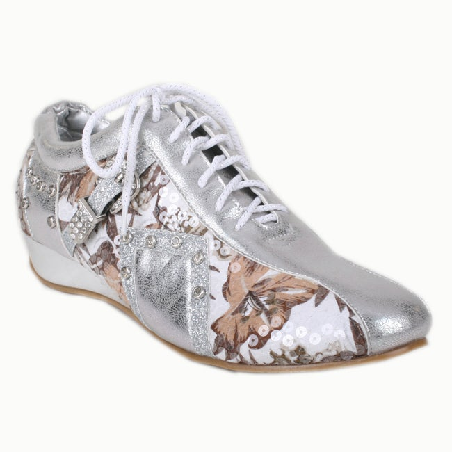 Bolaro by Beston Women's Silver Printed Sneakers