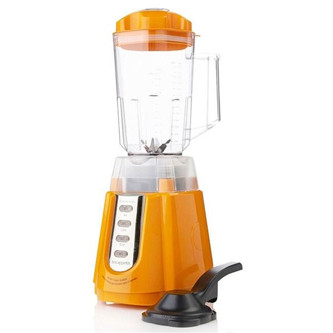 Bon Appetit Orange 8-blade Dual-action Power Blender