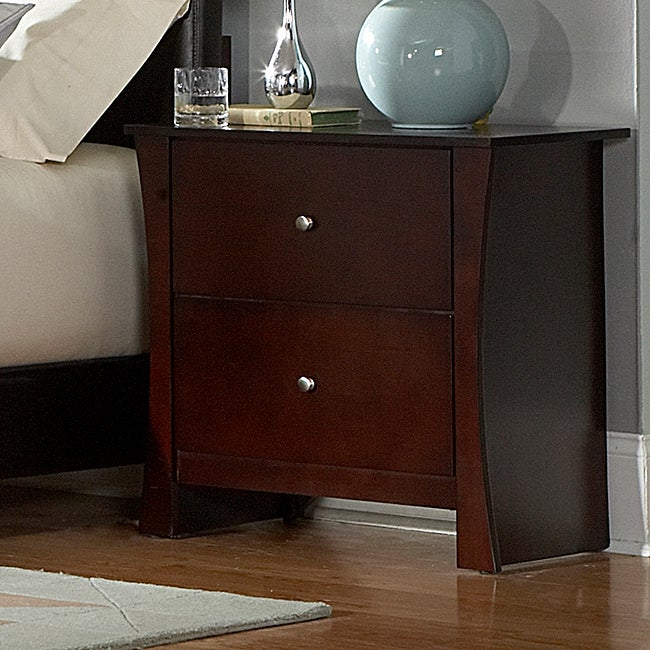 Adlington Warm Cherry 2-drawer Casual Night Stand