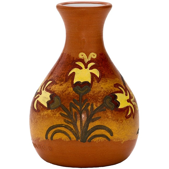 Decorative Ceramic 'L' Bottle Vase (Peru)