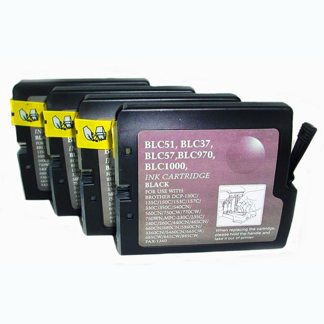 Brother LC 51 Black Compatible Catridge (Pack of 4)