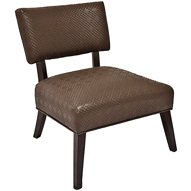 Dark Cherry Armless Occasional Chair