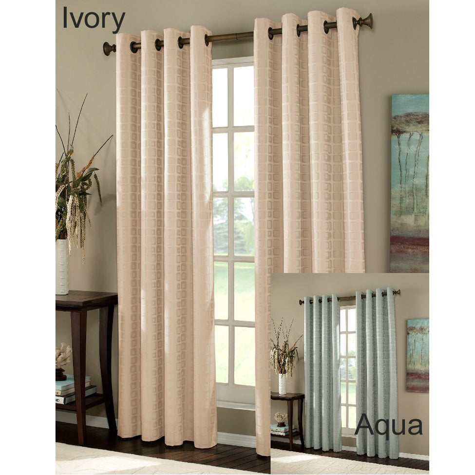City 84-inch Square Room-darkening Curtain Panels (Set of 2)