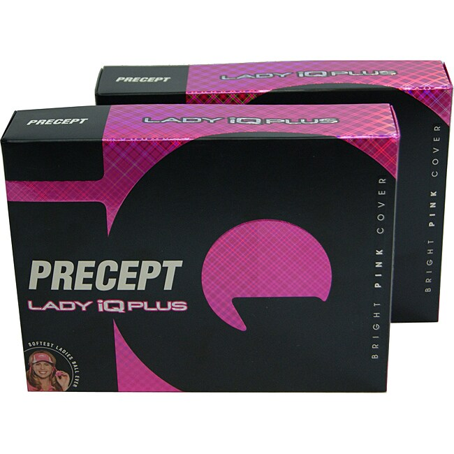 Precept Lady IQ Plus Pink Golf Balls (Case of 24)
