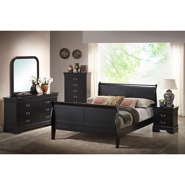 Harrell Black Queen Size Modern Bedroom Set