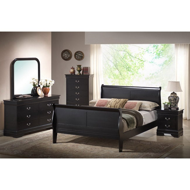 harrell black king size modern bedroom set 14263473