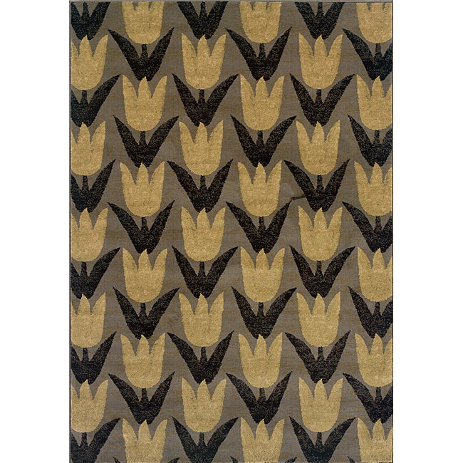 Gold Transitional Area Rug (1'10 x 3'3)