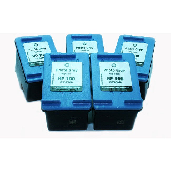 HP 100 Photo Grey Inkjet Cartridges (Pack of 5) (Remanufactured)