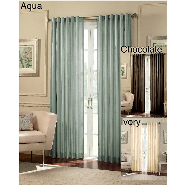 Cooper Faux Silk 95-Inch Stripe Curtain Panel Pair