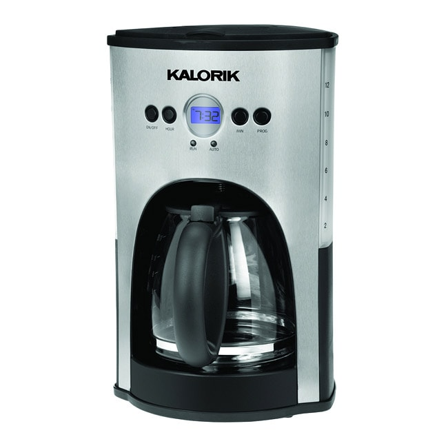 Refurbished Kalorik Stainless Steel/Black Programmable 12 Cup Coffee Maker