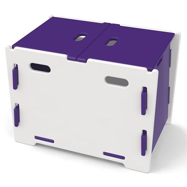 Legare Kids Purple/ White Toy Box