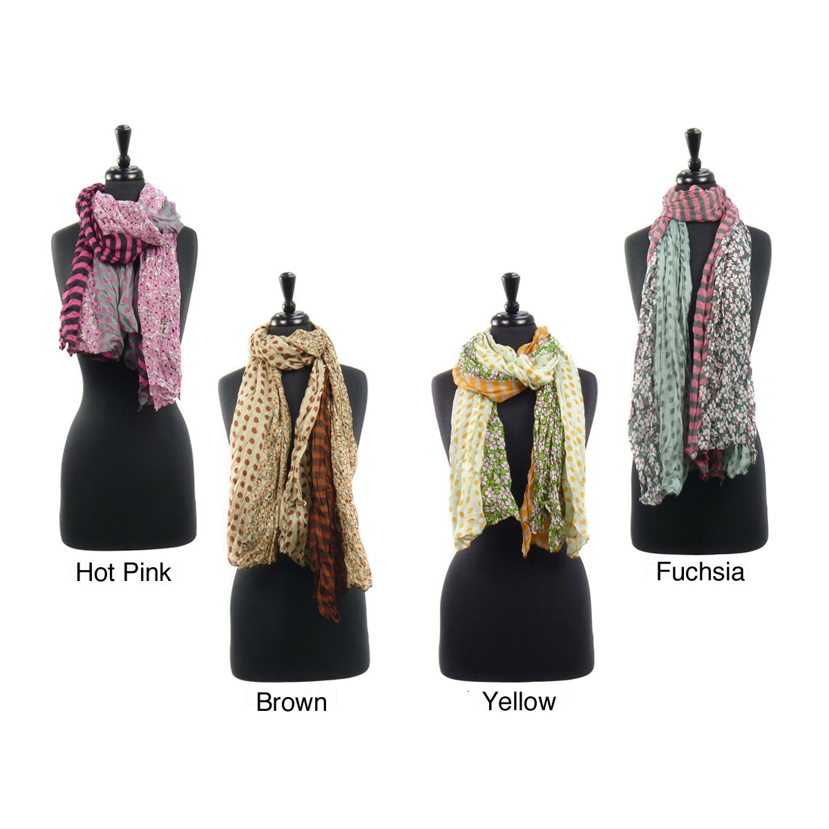 LA77 Women's Multi Pattern Lightweight Scarf