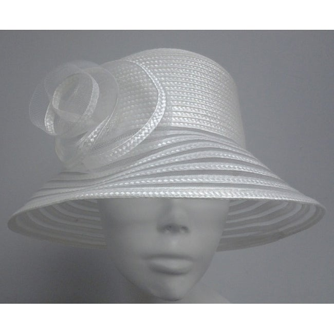 Swan Women's White Braided Bucket Hat