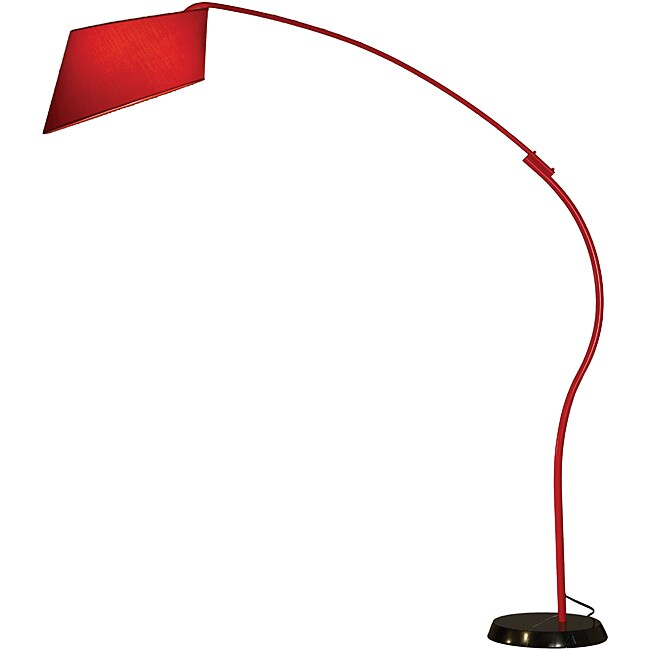 Nova 'Ibis' Red Arc Floor Lamp