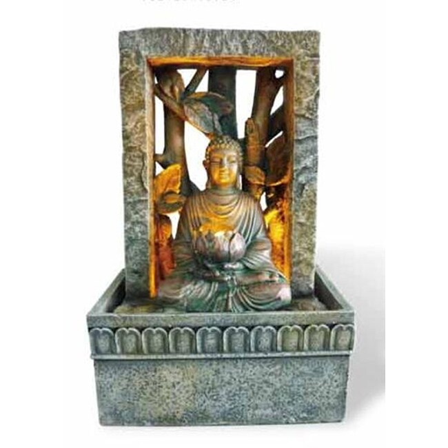 Buddah LED/ Water Feature Tabletop Fountain
