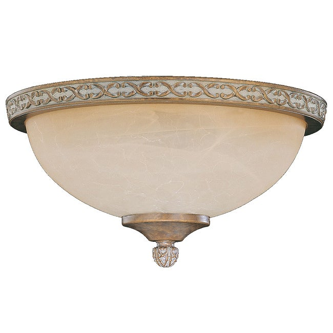 Brazilian Bronze Die-cast Tea Glass Dome Light Fixture