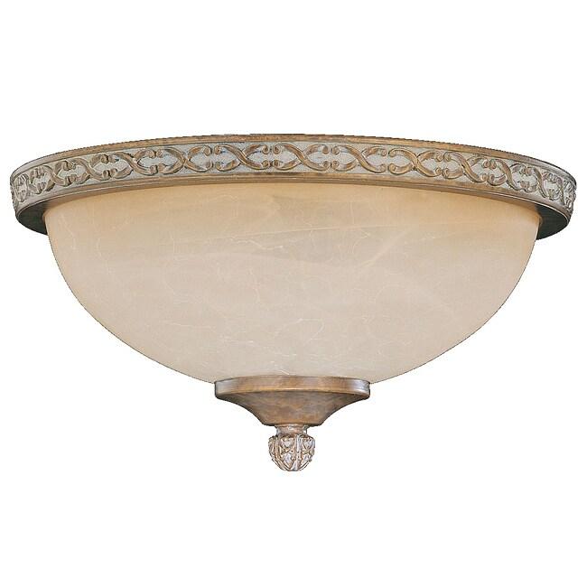 Brazilian Bronze Die-cast Tea Glass Dome Light Fixture