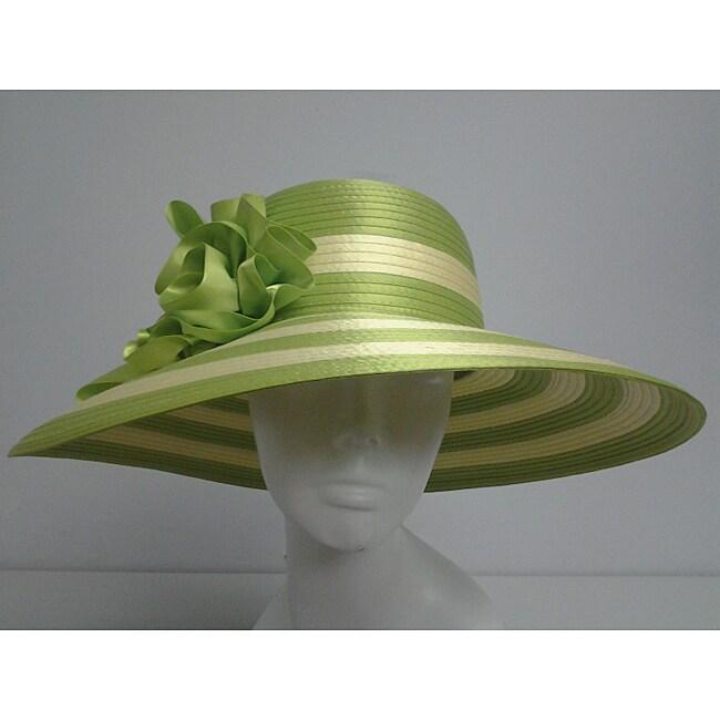Swan Women's Lime Green/ Yellow Floppy Church Hat