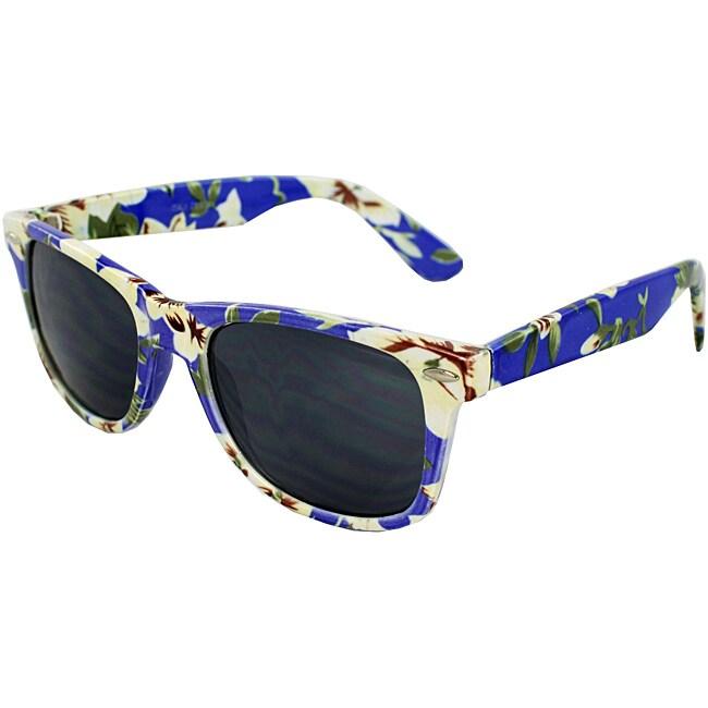 Women's Blue Floral Sunglasses