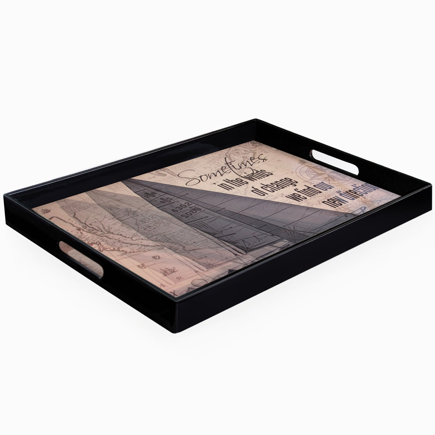 Accents by Jay Winds of Change Serving Tray with Handles