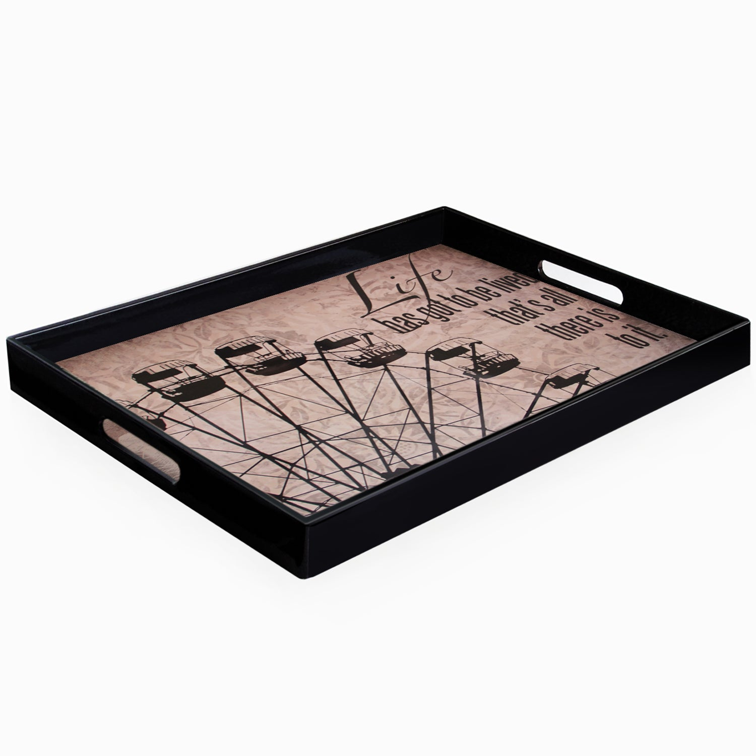 Accents by Jay Impressions Carousel Serving Tray with Handles