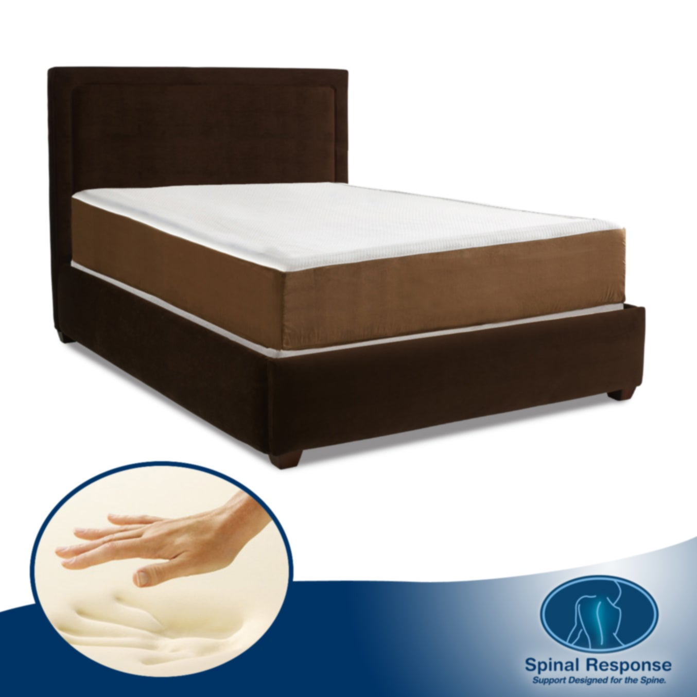 Spinal Response Exquisite 8-inch Full-size Memory Foam Mattress