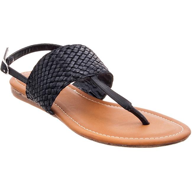 Riverberry Women's 'Santi' Black Woven Sandals