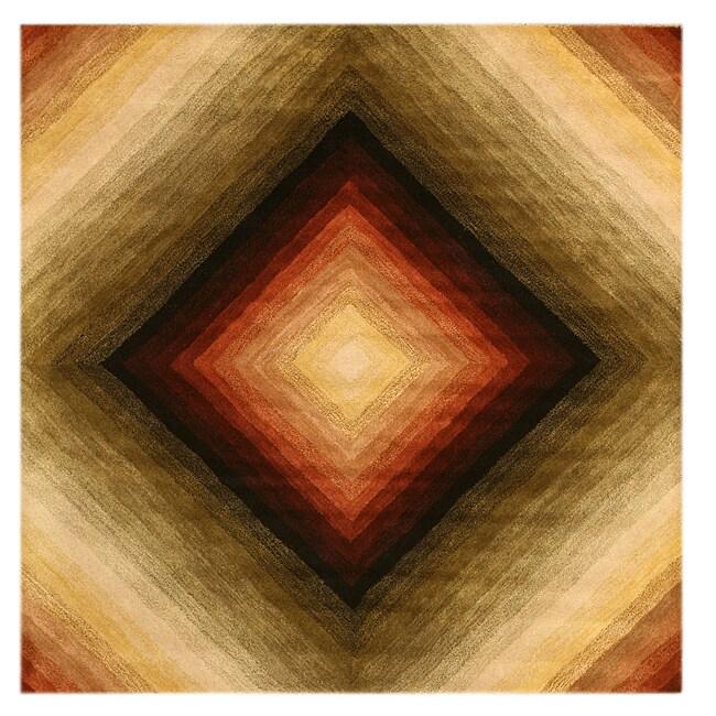 Hand Tufted Wool Desert Star Rug (6' Square)