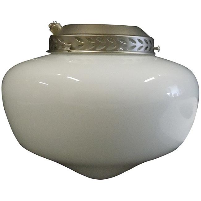 One Light Satin Nickel Ceiling Fan Light Kit