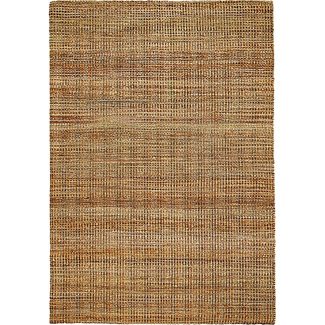 LNR Home Natural Fiber Hebrides Jute Braided Rug (9'2 x 12'6)