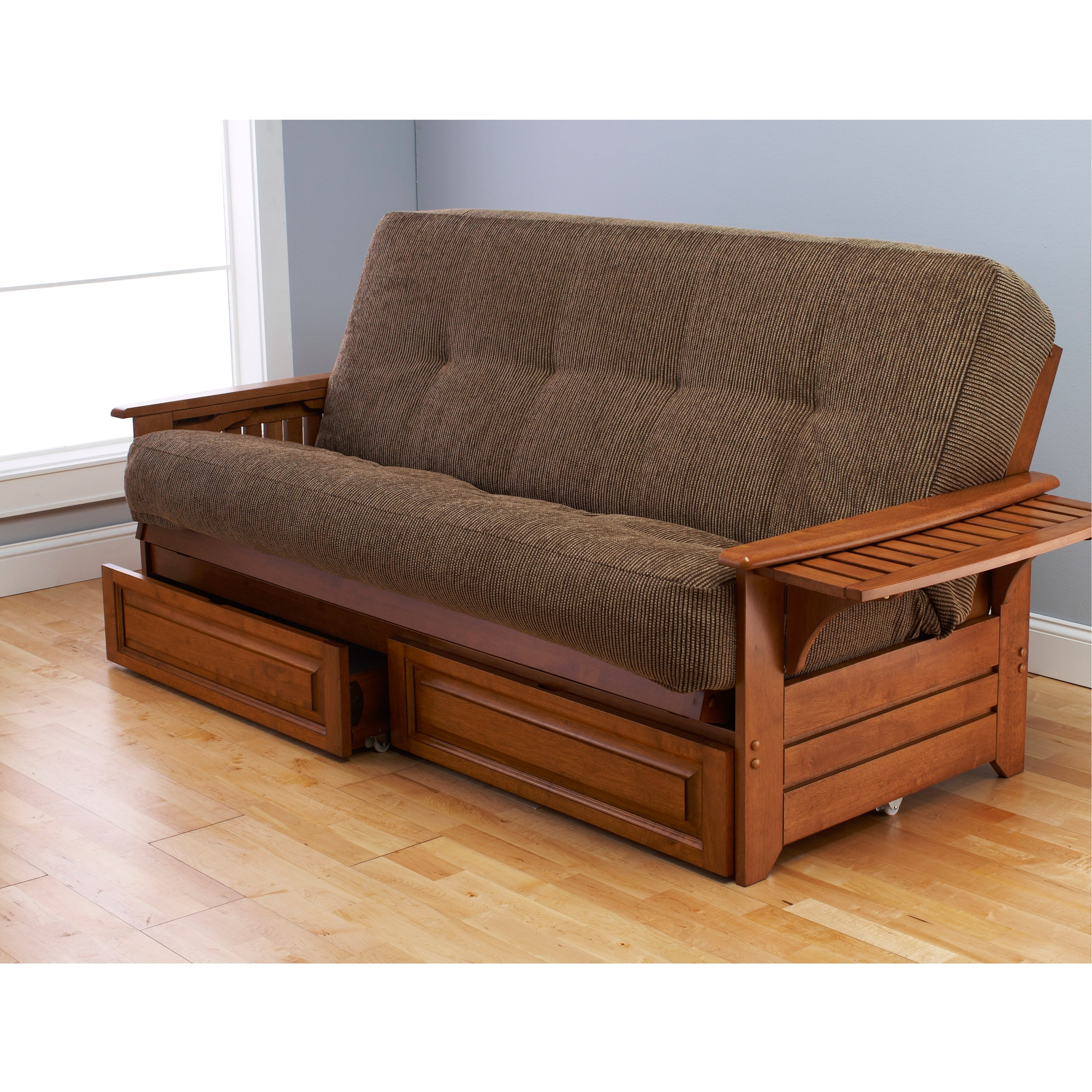Somette Ali Phonics Multi flex Honey Oak Futon Frame