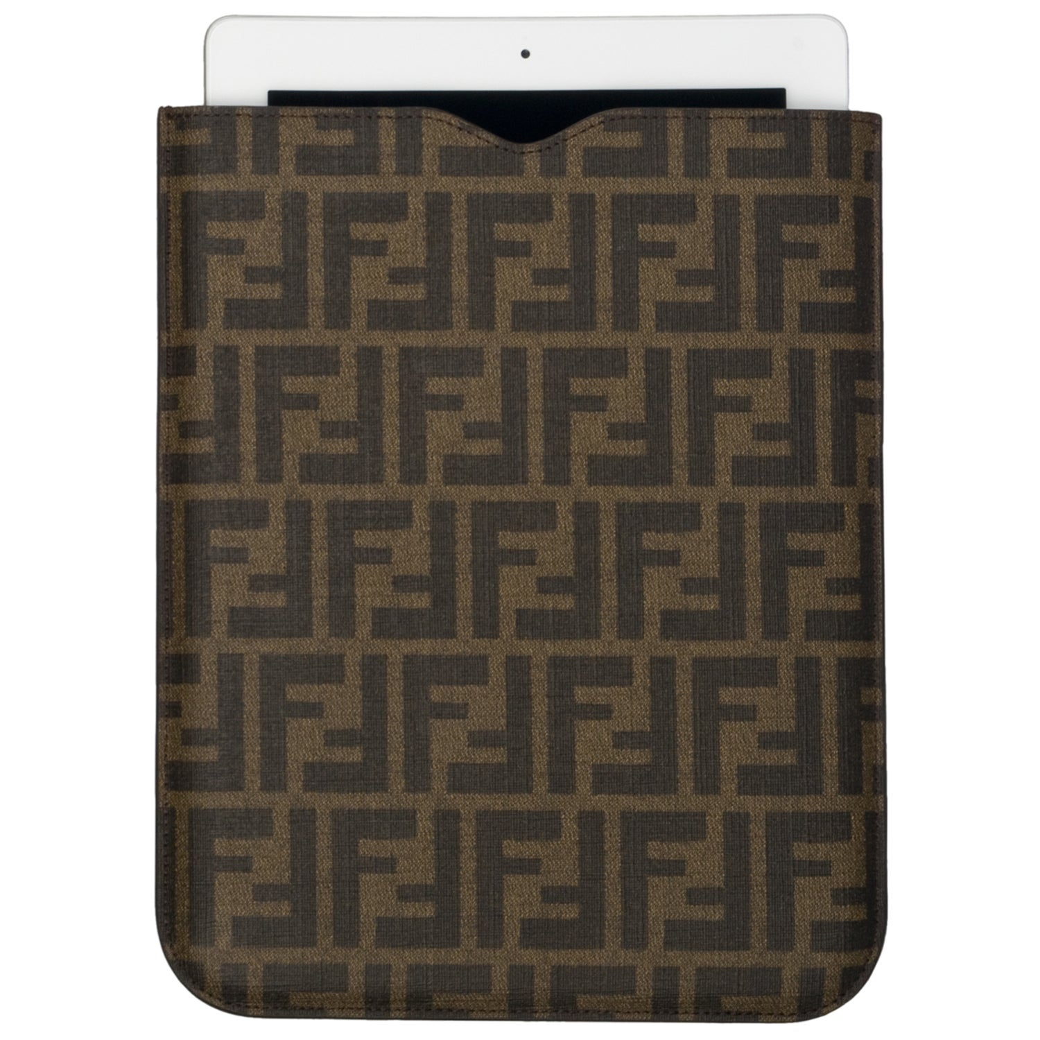 Fendi 'Zucca' Coated Leather iPad Cover