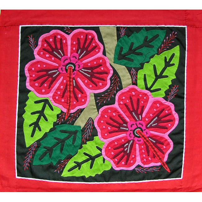 'Tropical Flowers' Tapestry (Panama)