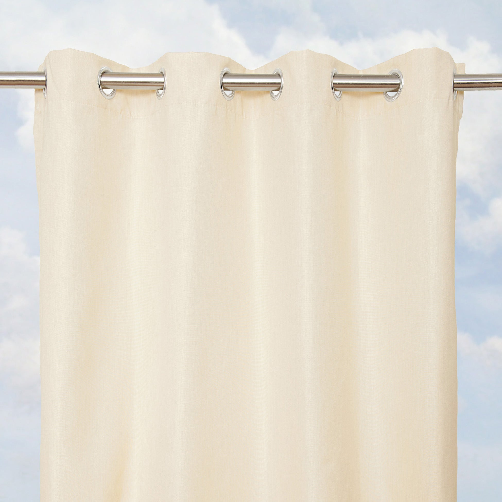 Sunbrella Bay View Vellum 96-inch Outdoor Curtain Panel