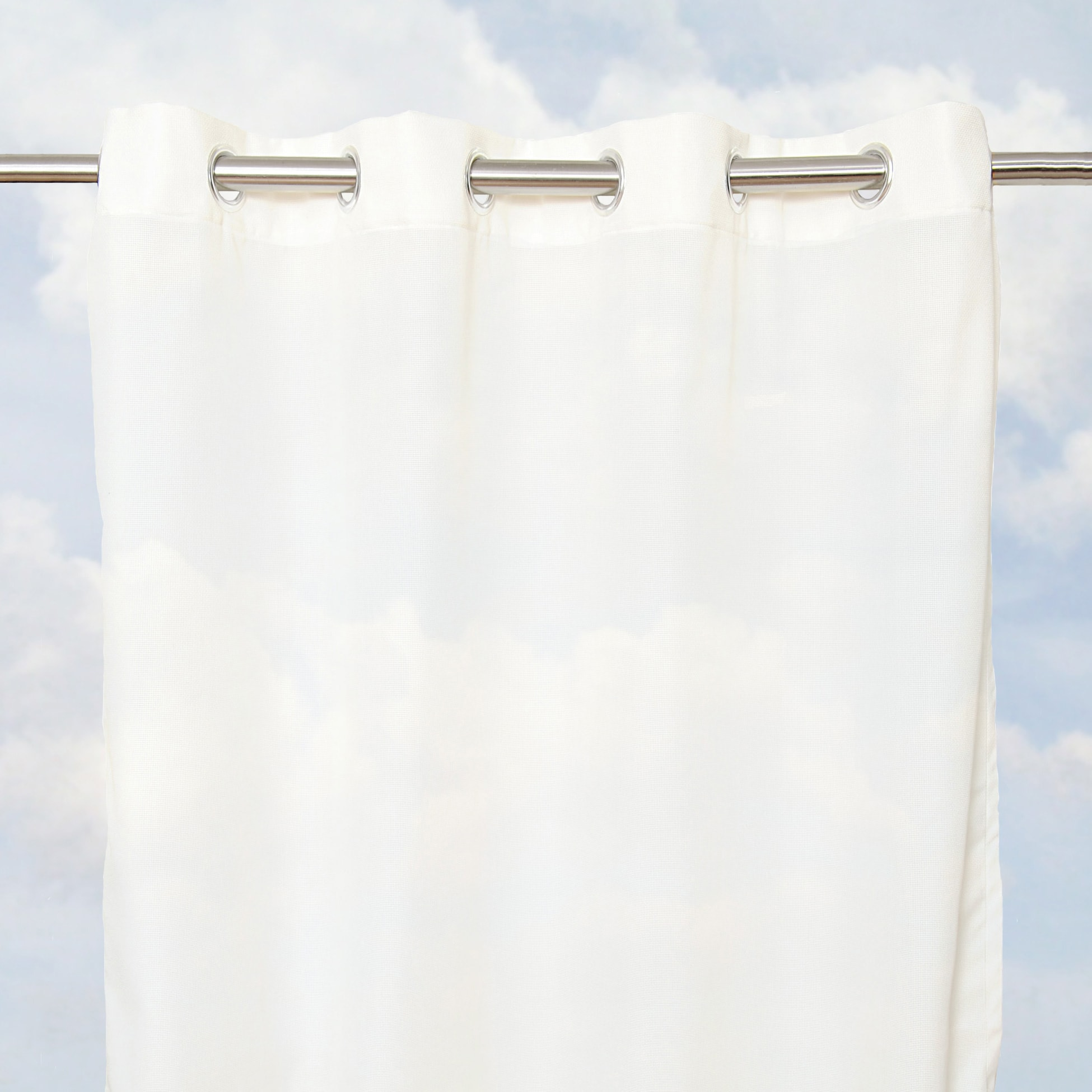 Sunbrella Bay View Sheer 96-inch Outdoor Curtain Panel