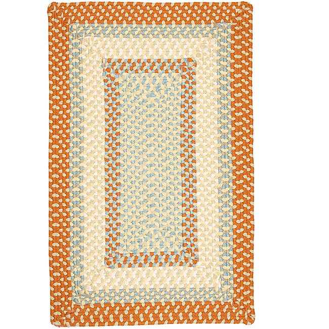 Color Market Orange Accent Rug (8' x 11')