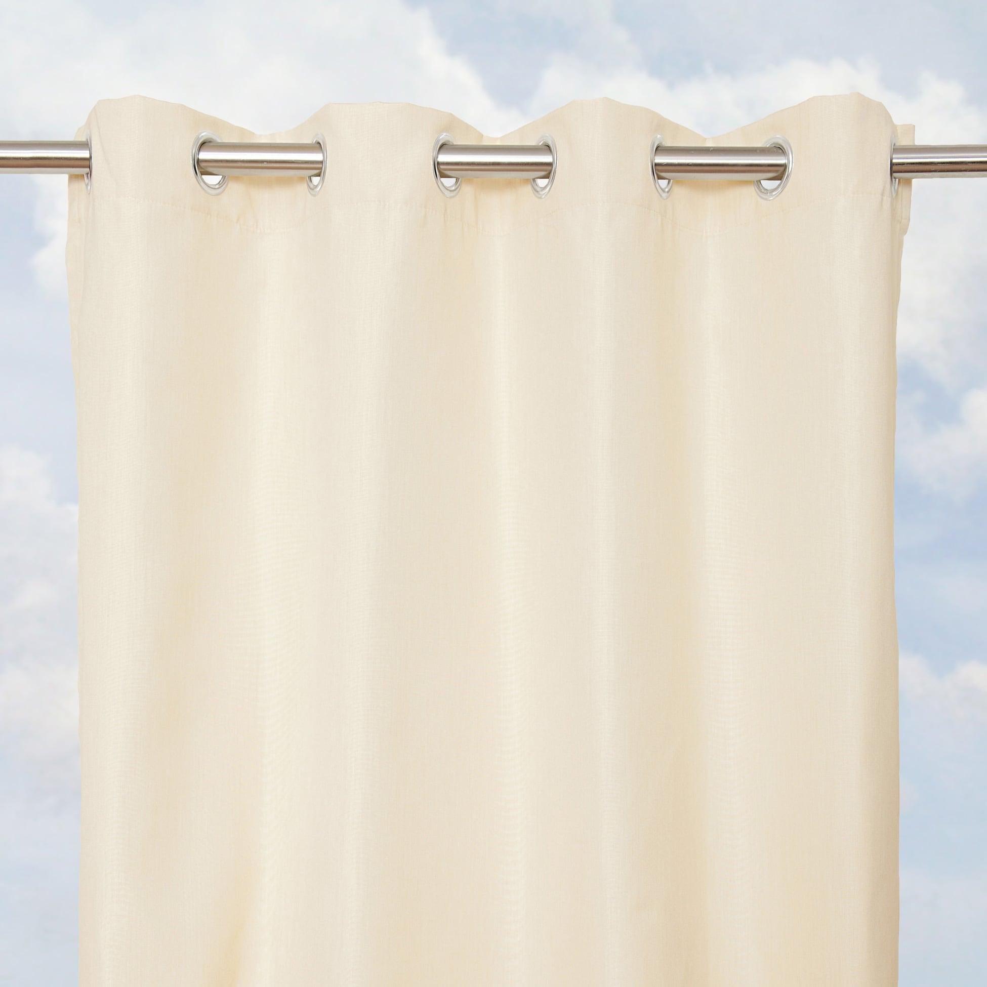 Sunbrella Bay View Vellum 84-inch Outdoor Curtain Panel