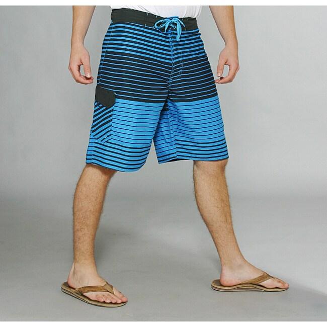 Zonal Men's 'Lineup' Blue Stripe Boardshorts