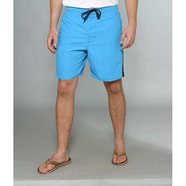 Zonal Men's 'Lanes E-Board' Blue Swim Shorts