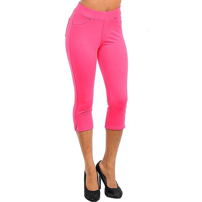 Stanzino Women's Fuchsia Capri Pants