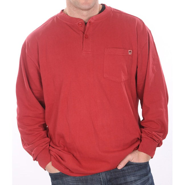 Farmall IH Men's Vintage Red Henley Shirt
