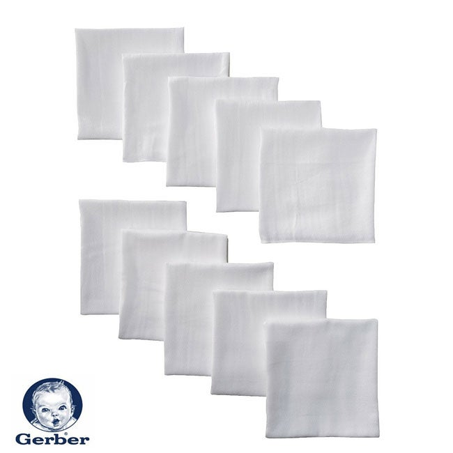 Ply Cloth Diapers with Absorbent Padding (Pack of 10)