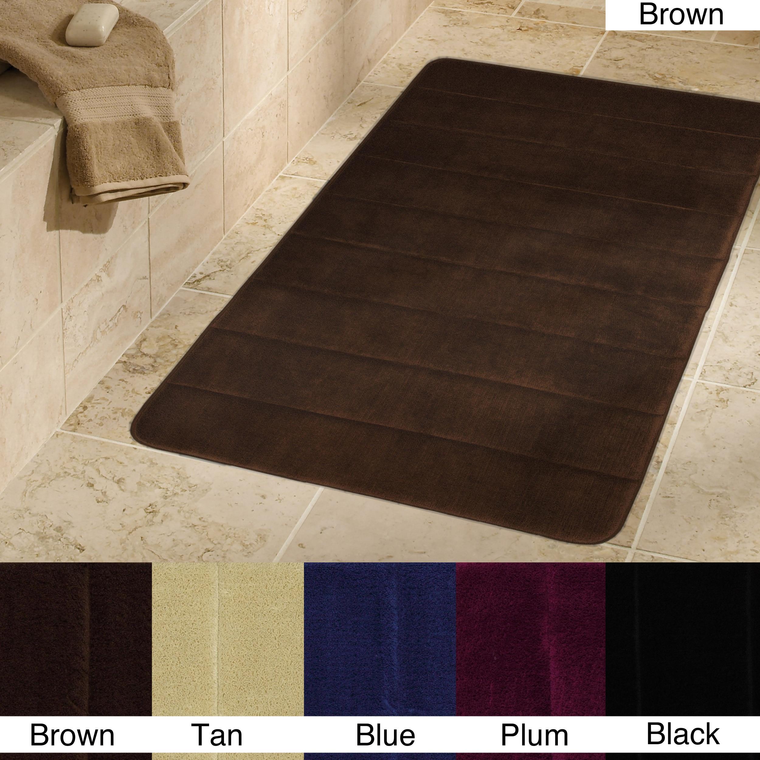 Cushion Foam 19.5 x 36 Bath Mat (Set of 2)