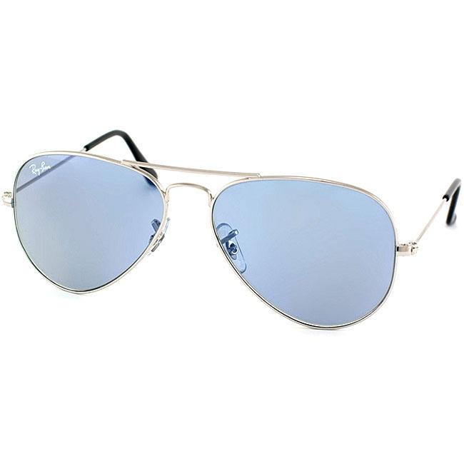 Ray-Ban Women's RB3025 Silver/ Blue Aviator Sunglasses