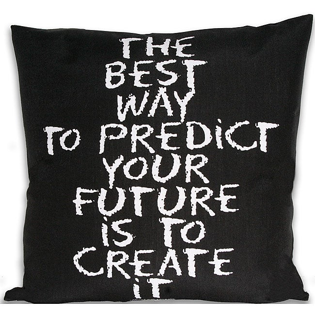 'Your Future' Inspirational 20-inch Square Pillow
