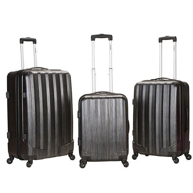 Rockland Santa Fe Lightweight Carbon Metallic 3-piece Hardside Spinner Upright Luggage Set