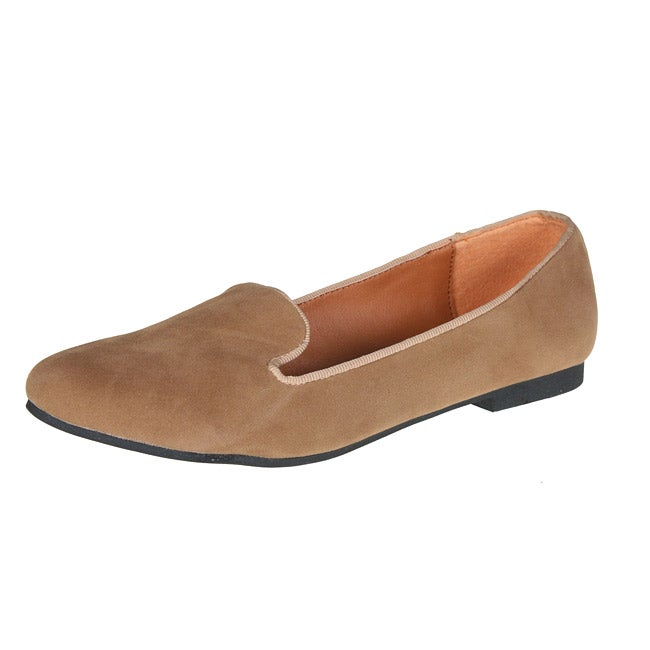 Refresh by Beston Women's 'Belin-03' Beige Suede Flats