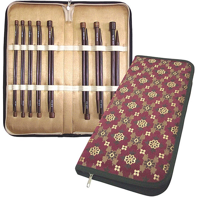 10 inch Rosewood Knitting Needles Deluxe Set-8/Pair