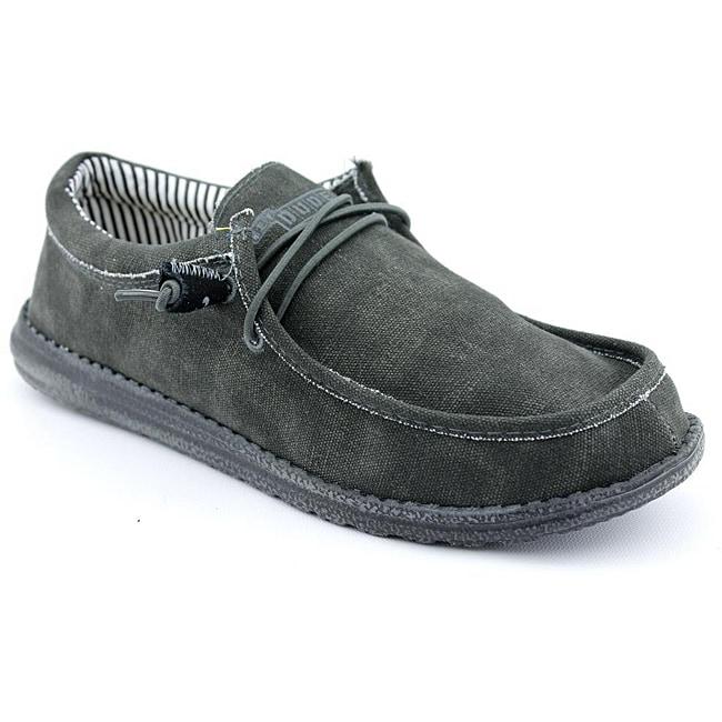 Hey Dude Men's Wally Black Casual Shoes